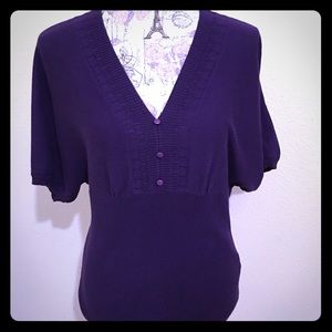 Petite Apostrophe🦋Women's  Purple Sweater
